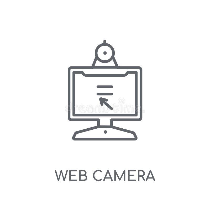 Linjär symbol för rengöringsdukkamera Modern nolla för begrepp för logo för översiktsrengöringsdukkamera royaltyfri illustrationer