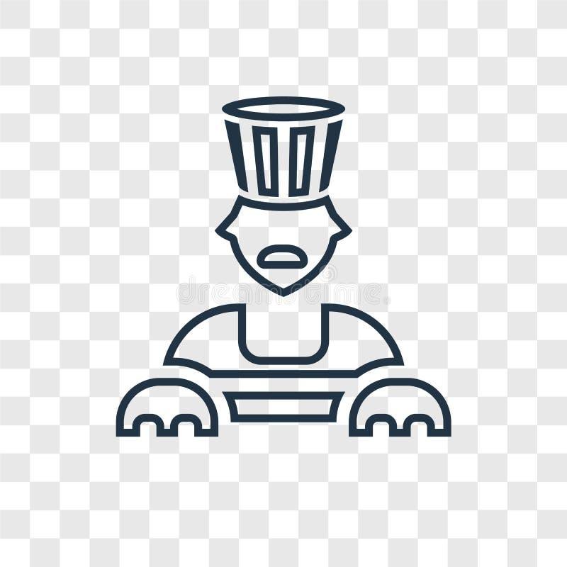 Linjär symbol för sfinxbegreppsvektor som isoleras på genomskinlig backgr royaltyfri illustrationer