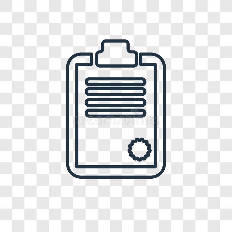Linjär symbol för skrivplattabegreppsvektor som isoleras på genomskinlig bac royaltyfri illustrationer