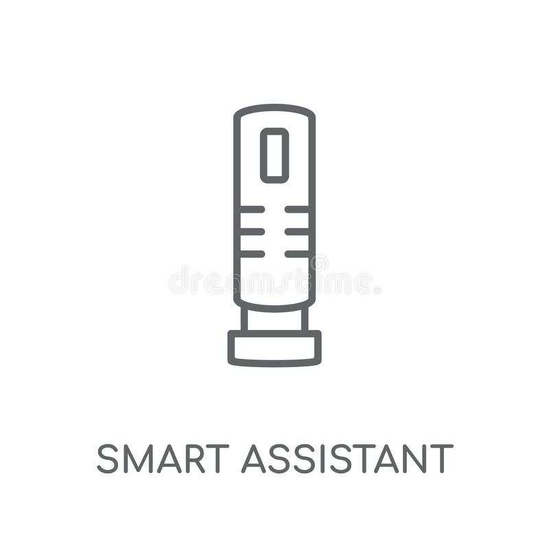 linjär symbol för smart assistent Smart assistentlogo för modern översikt royaltyfri illustrationer