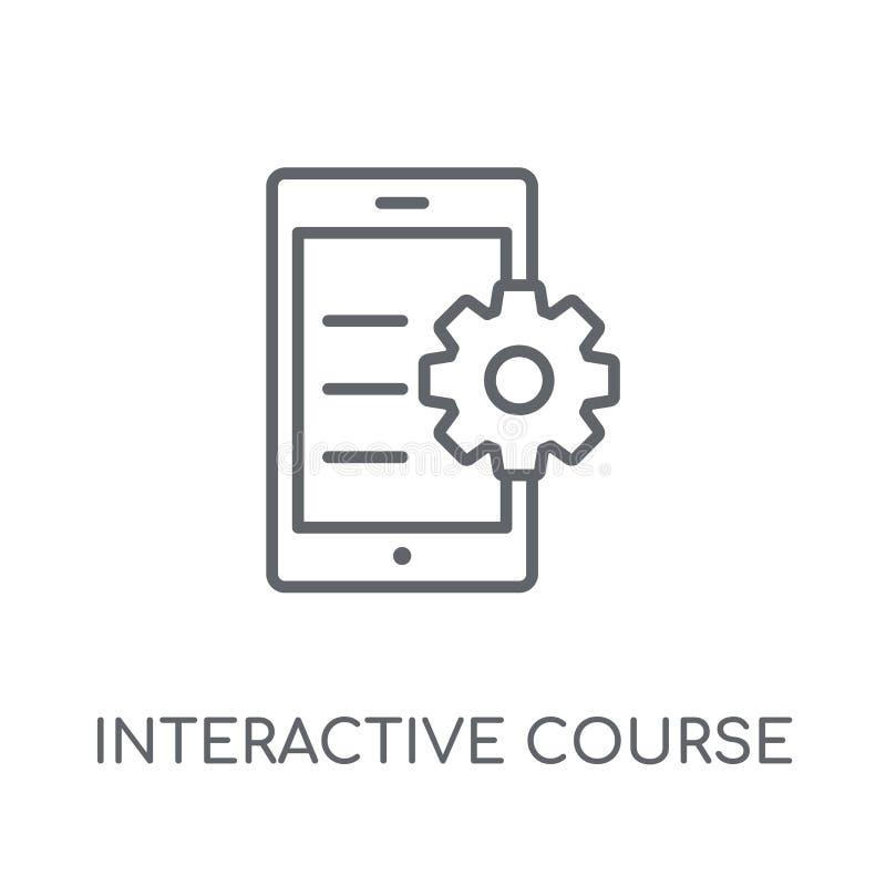 linjär symbol för växelverkande kurs Växelverkande cours för modern översikt stock illustrationer