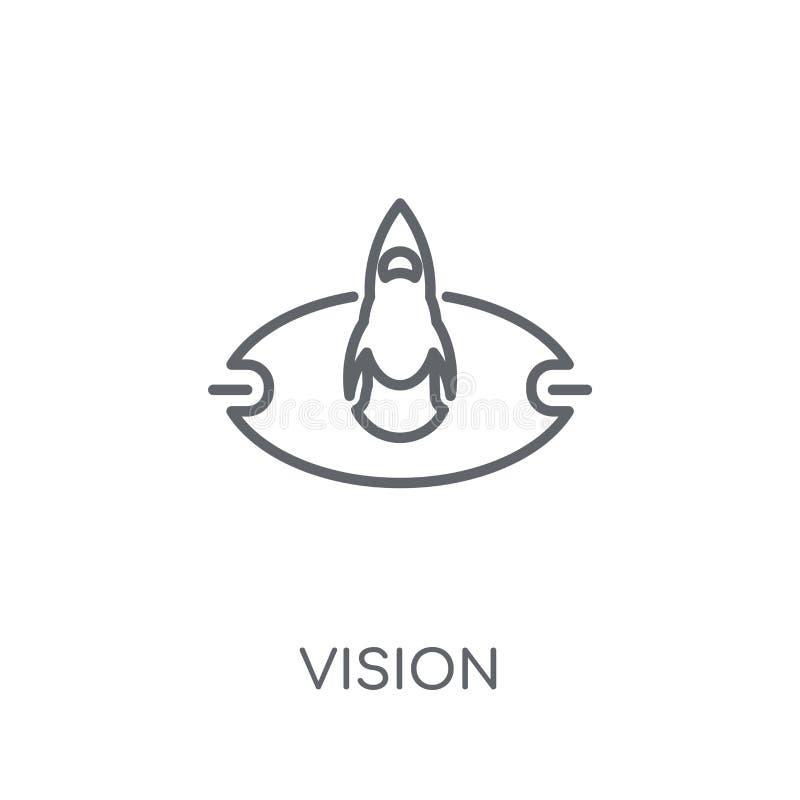 Linjär symbol för vision Modernt begrepp för översiktsvisionlogo på vit stock illustrationer