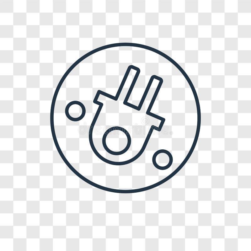 Linjär symbol för Wifi begreppsvektor som isoleras på genomskinlig backgrou stock illustrationer