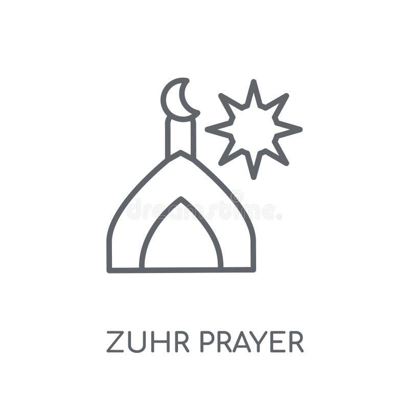 Linjär symbol för Zuhr bön Modernt begrepp för logo för översiktsZuhr bön stock illustrationer