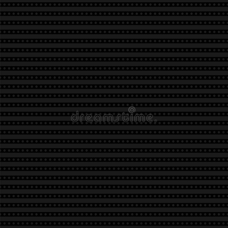 Linjära strimmor med prickar seamless modern modell vektor illustrationer
