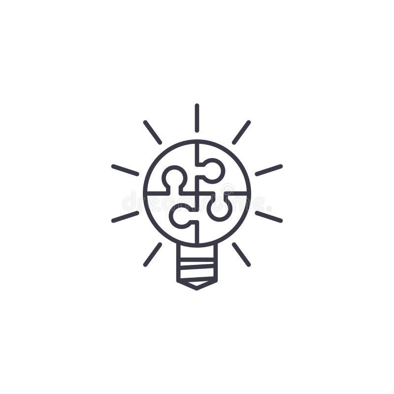 Linjärt symbolsbegrepp för effektiv teamwork Effektiv teamworklinje vektortecken, symbol, illustration stock illustrationer