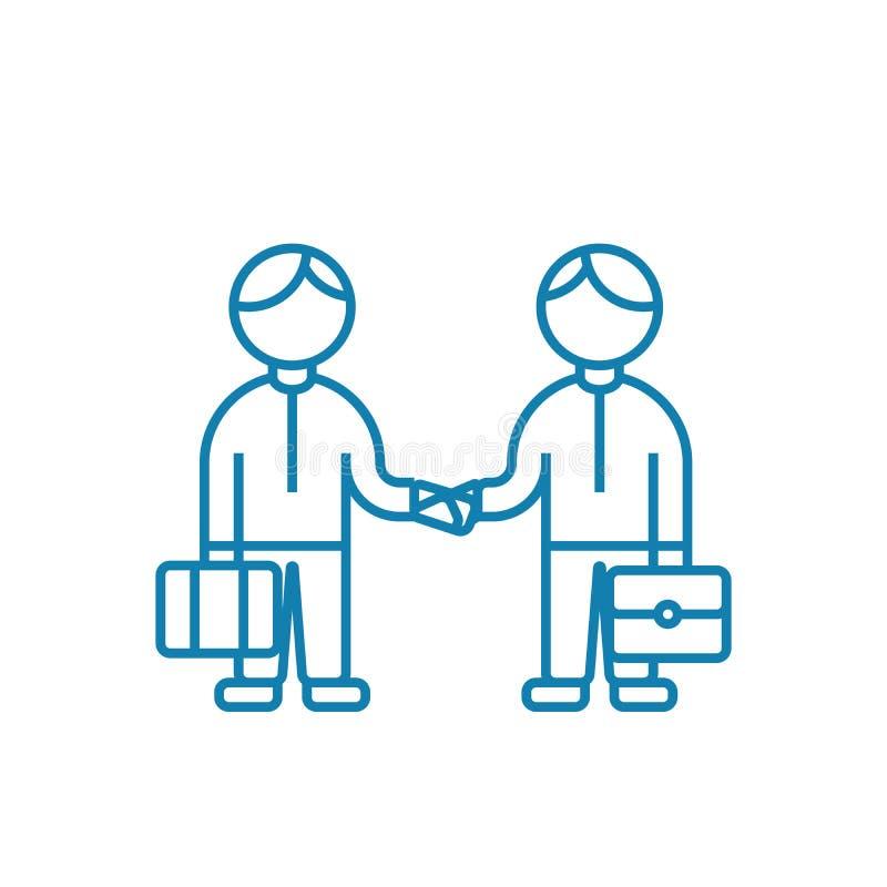 Linjärt symbolsbegrepp för företagsam aktivitet Företagsam aktivitetslinje vektortecken, symbol, illustration royaltyfri illustrationer