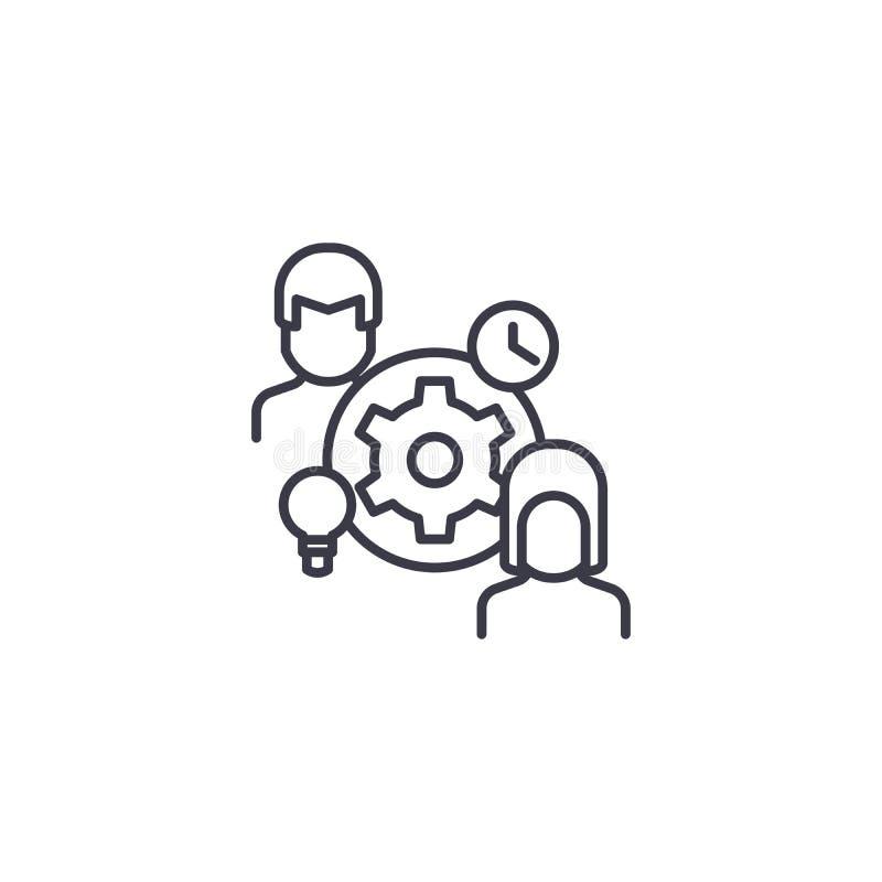 Linjärt symbolsbegrepp för styrelse Styrelselinje vektortecken, symbol, illustration vektor illustrationer