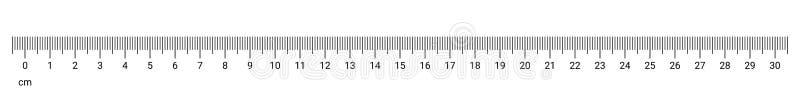 Linjalcm-mätningen numrerar vektorskalan royaltyfri illustrationer