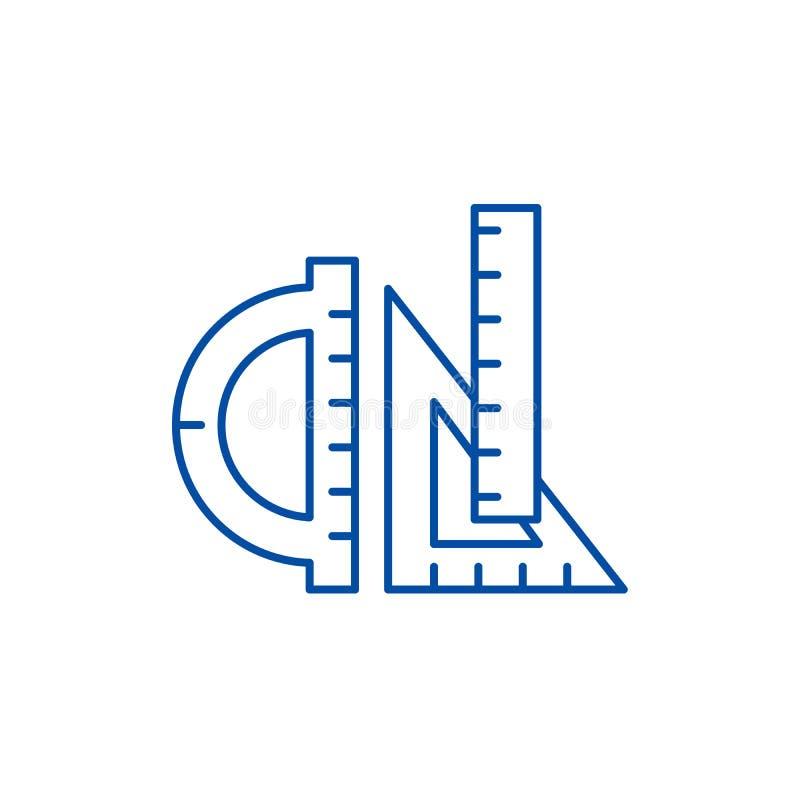 Linjallinje symbolsbegrepp Plant vektorsymbol för linjaler, tecken, översiktsillustration stock illustrationer
