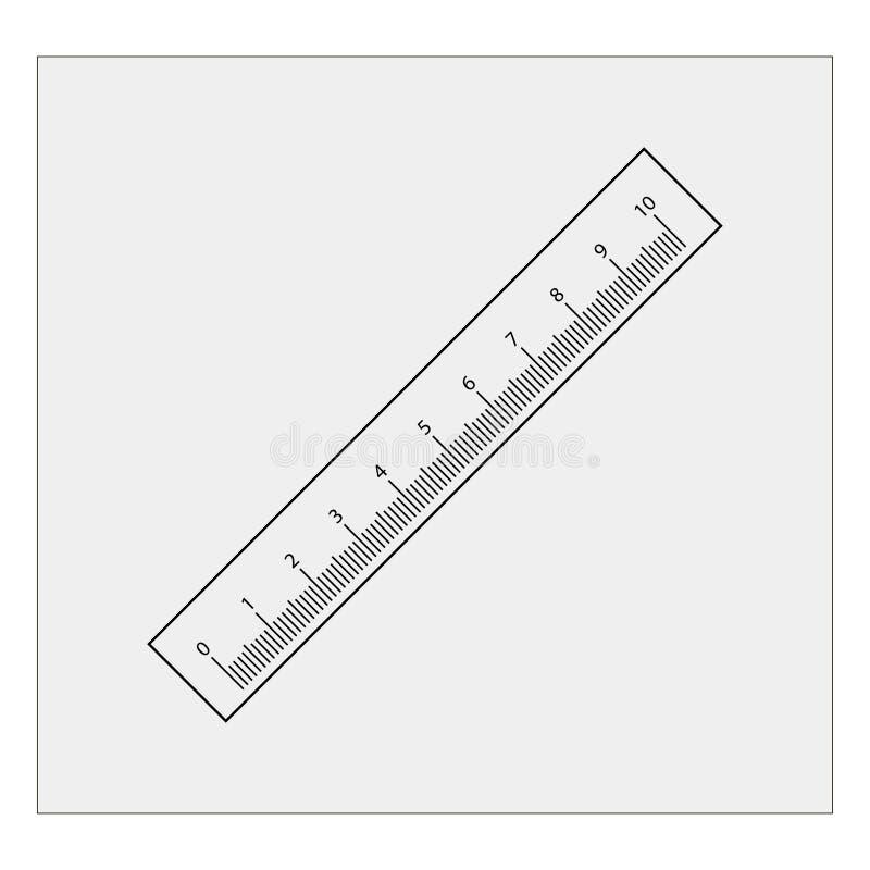 Linjalsymbol Grå färgbakgrund också vektor för coreldrawillustration vektor illustrationer