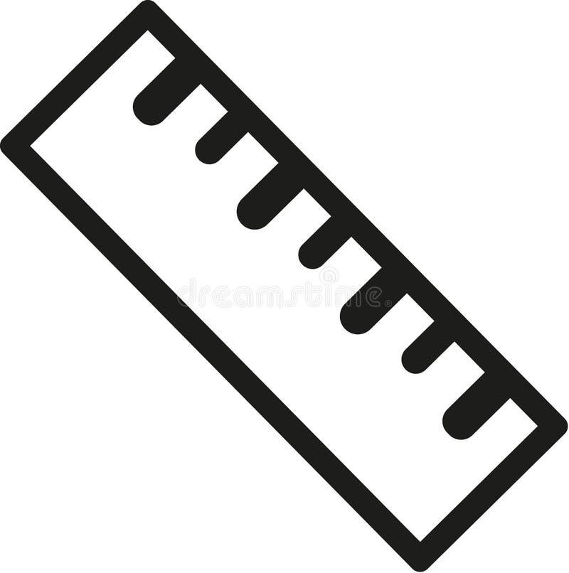 Linjalsymbolshjälpmedel royaltyfri illustrationer