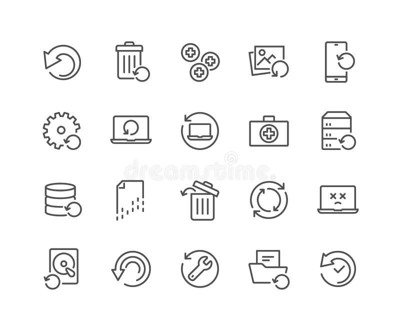 Linje återställningssymboler vektor illustrationer