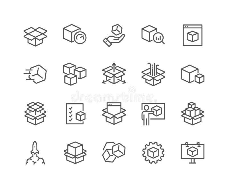 Linje abstrakta produktsymboler vektor illustrationer