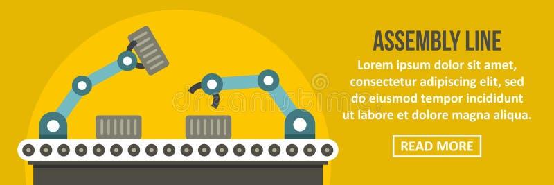 Linje banerhorisontalbegrepp för enhetsrobot stock illustrationer