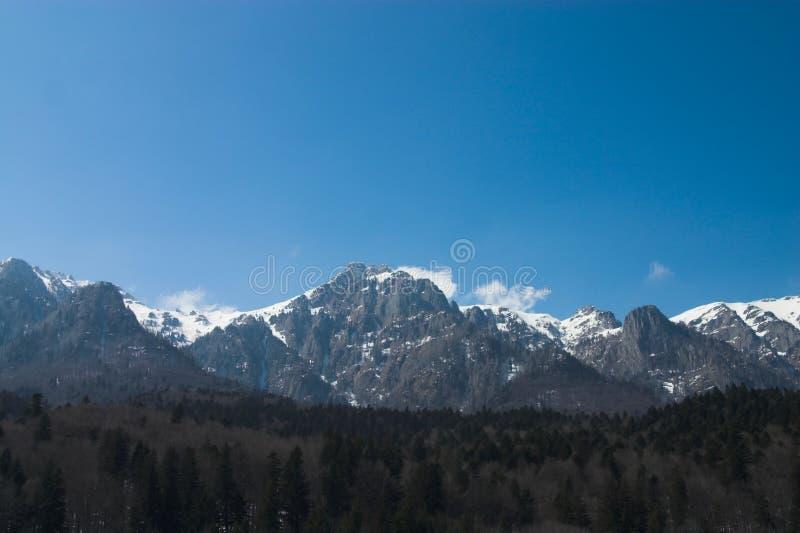 linje berg arkivfoto