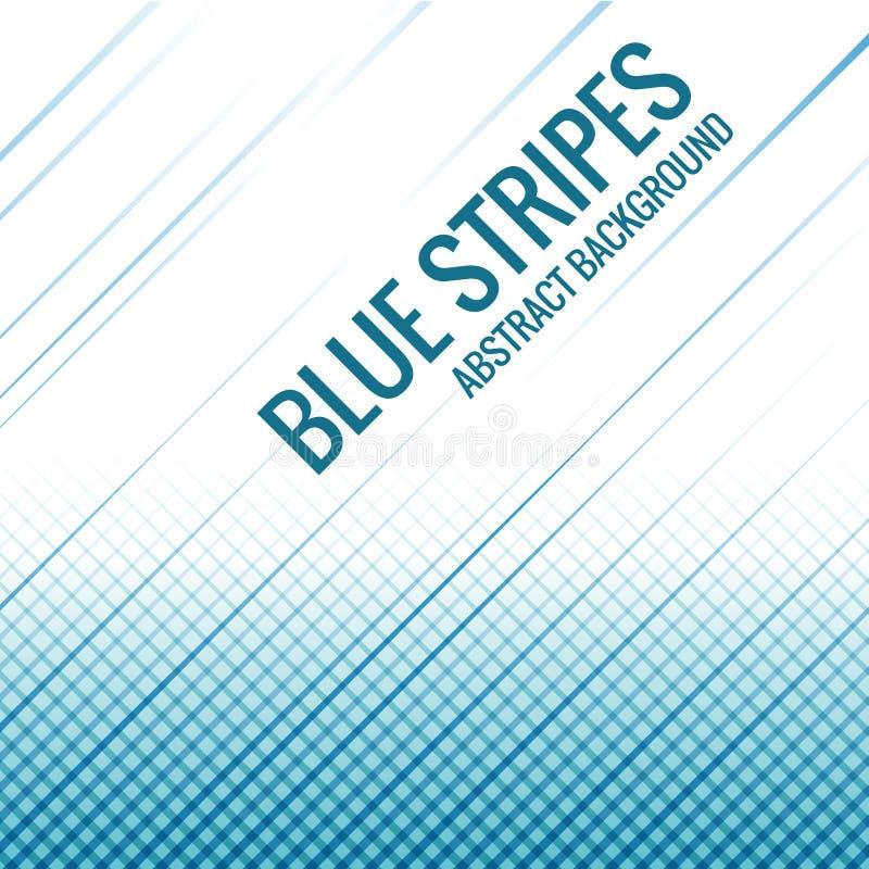 Linje design för blåa band för abstrakt begreppbakgrundsvektor royaltyfri illustrationer