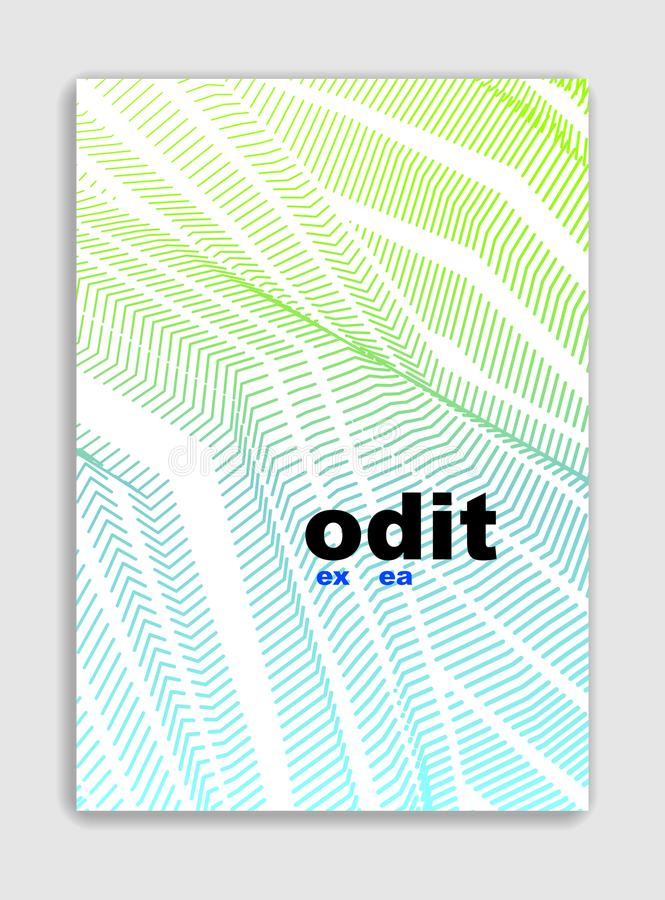 Linje design för broschyr för konstvektor minimalistic modern, räkningstempl stock illustrationer