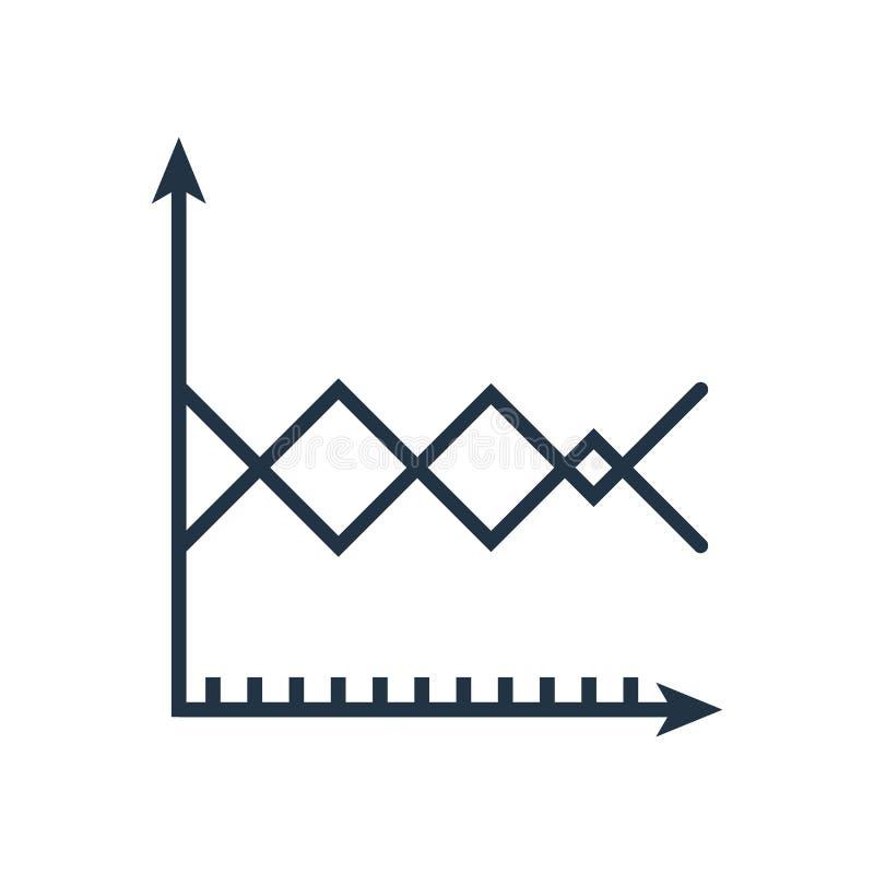 Linje diagramsymbolsvektor som isoleras på vit bakgrund, linje diagramtecken royaltyfri illustrationer