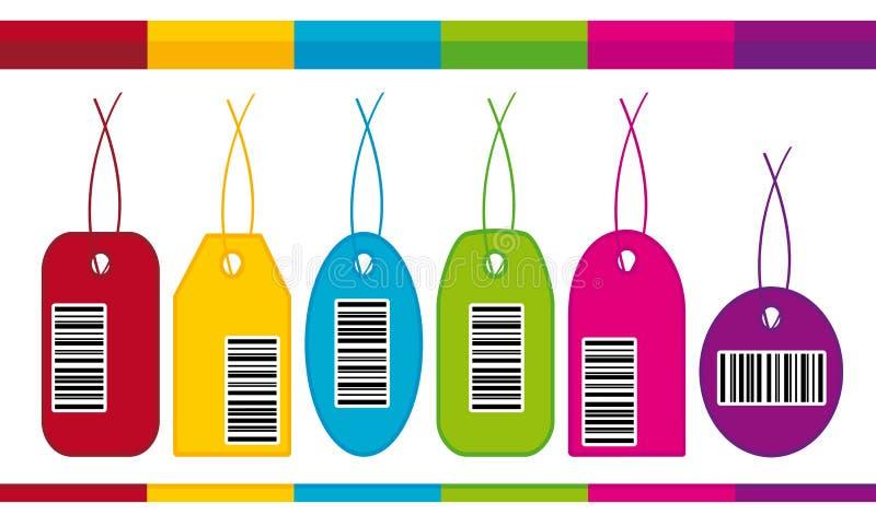 linje för etiketter för stångkoder stock illustrationer