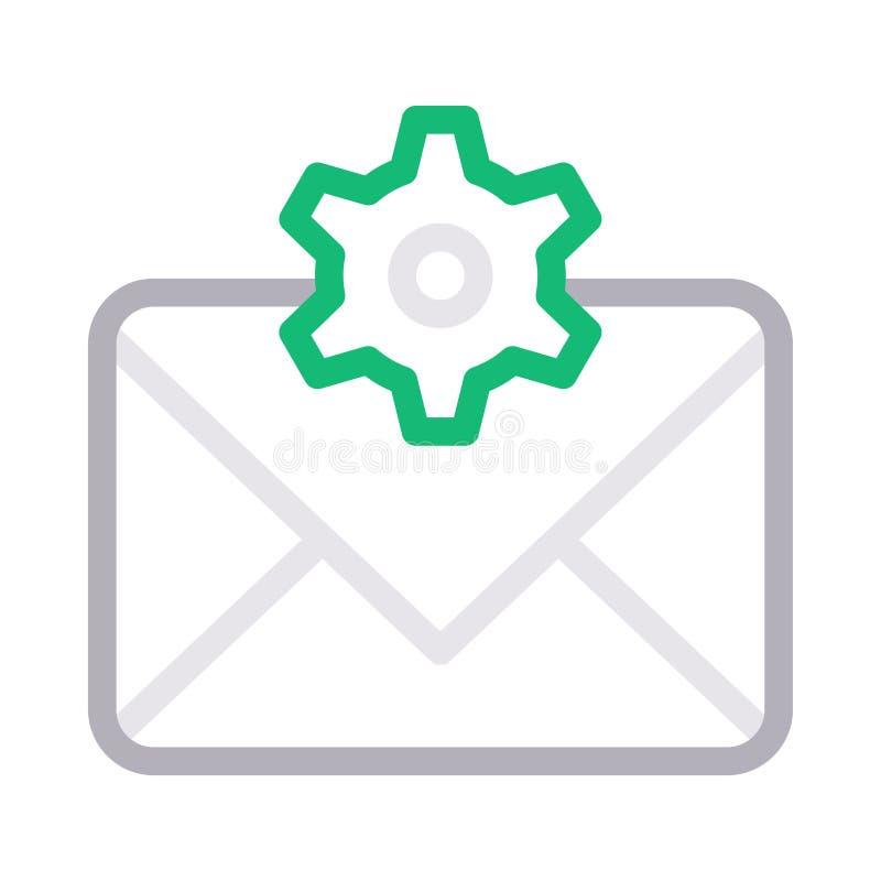 Linje för färg för Inbox inställning tunn vektorsymbol stock illustrationer