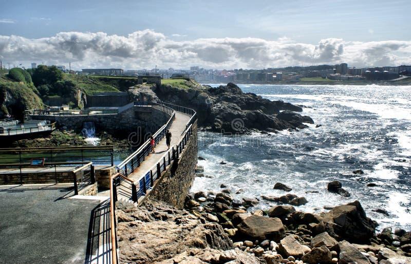 linje för kustcorunala fotografering för bildbyråer