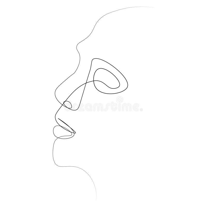 Linje för person en stock illustrationer