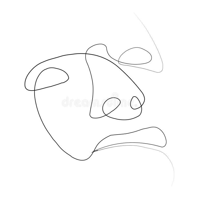 Linje för person en vektor illustrationer