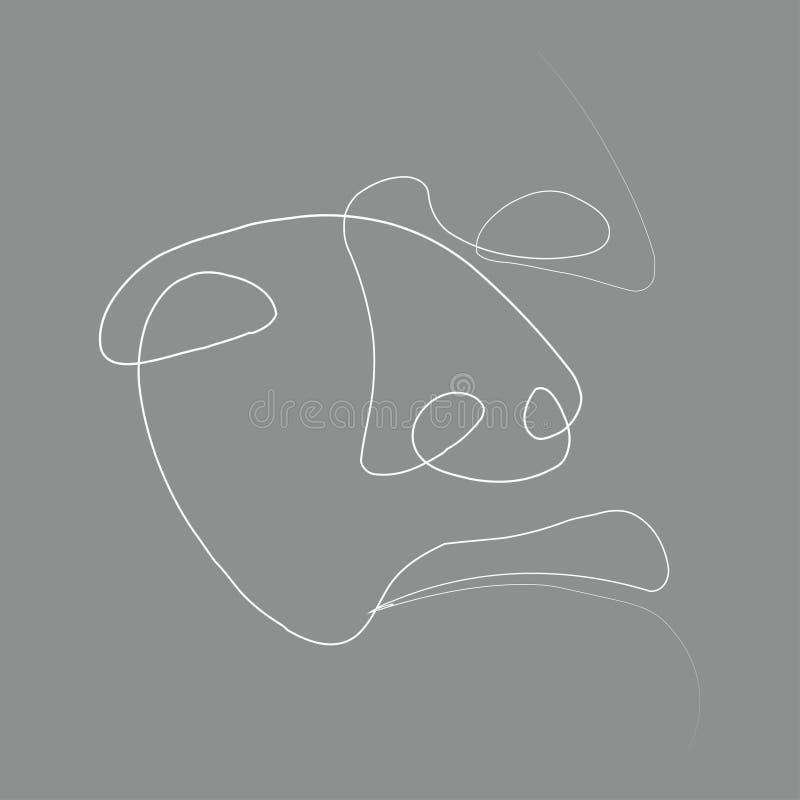 Linje för person en royaltyfri illustrationer