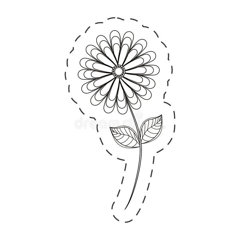 linje för snitt för blommavårsäsong vektor illustrationer
