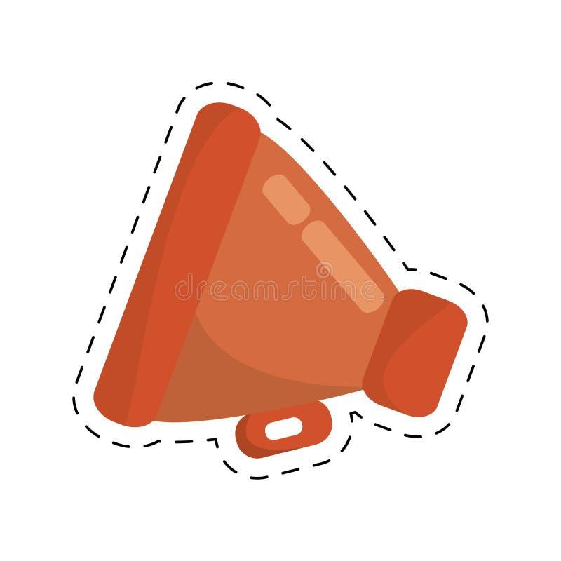 linje för snitt för utrustning för megafonloudspeakfilm vektor illustrationer