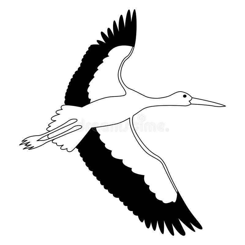 linje för storkvektorillustration royaltyfri illustrationer