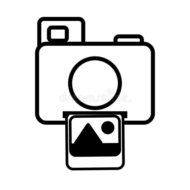 linje för symbol för bild för fotokamerabild stock illustrationer