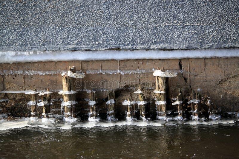 Linje för vattenis royaltyfri fotografi