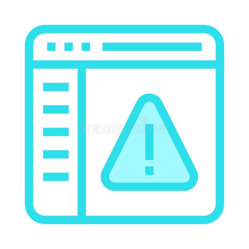 Linje för webbsidafelfärg symbol stock illustrationer