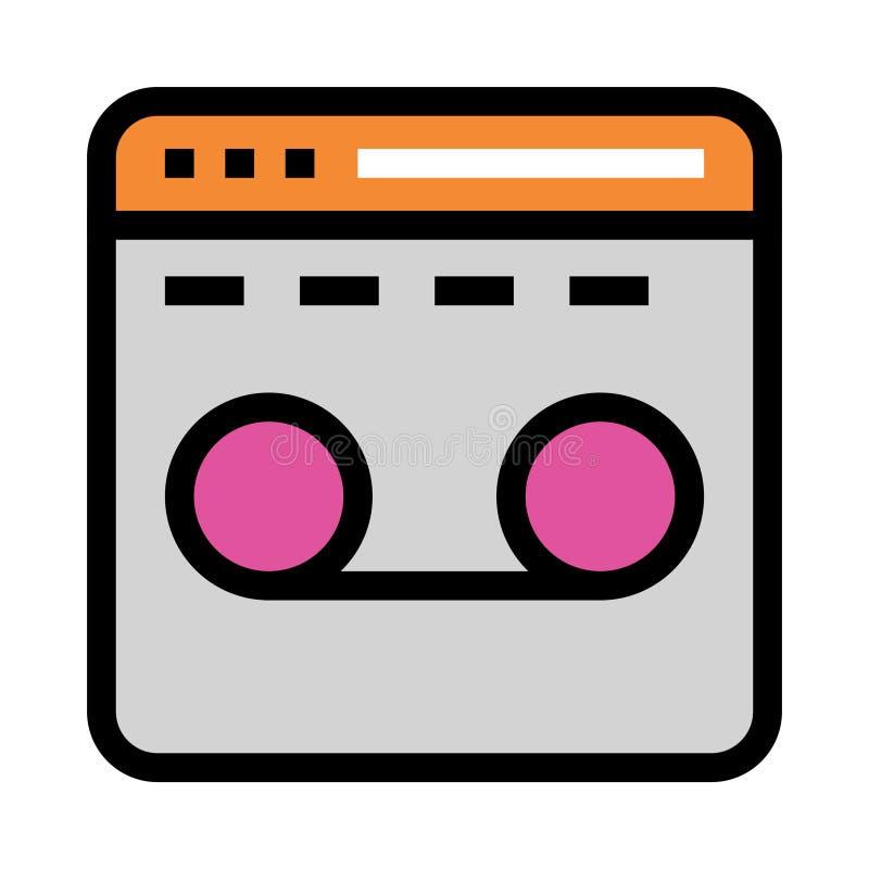 Linje för webbsidainspelningfärg symbol royaltyfri illustrationer