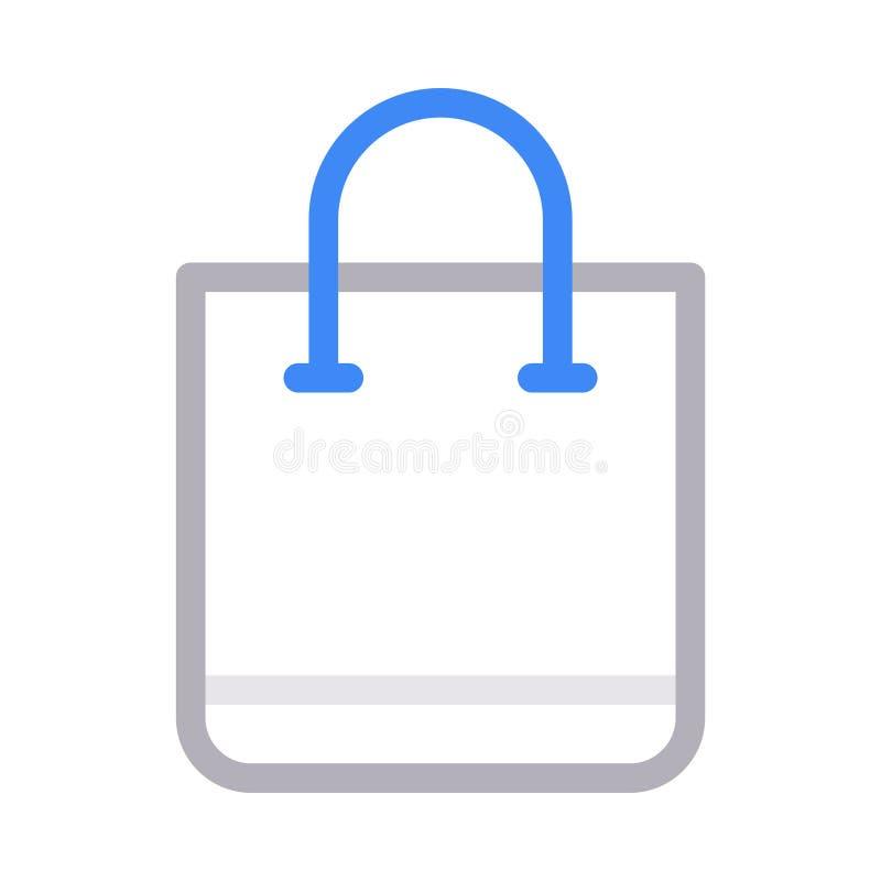 Linje f?r f?rg f?r shoppingp?se tunn vektorsymbol vektor illustrationer
