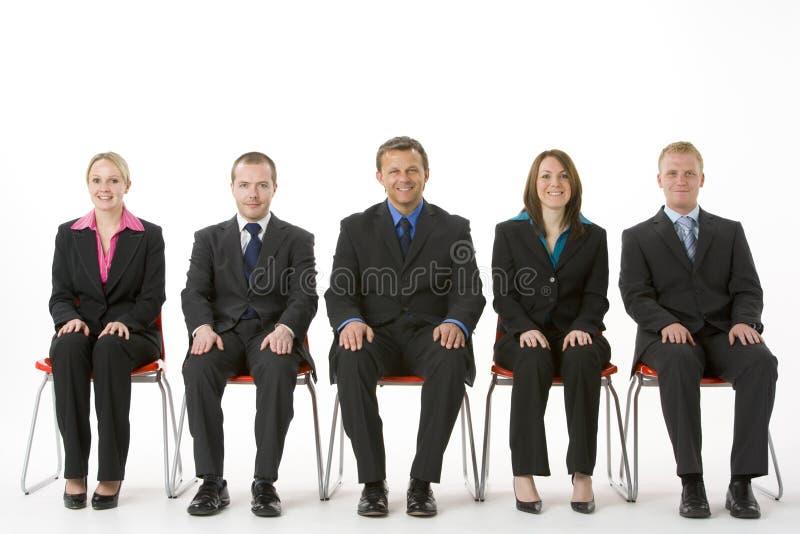 linje folksitting för affärsgrupp royaltyfri fotografi