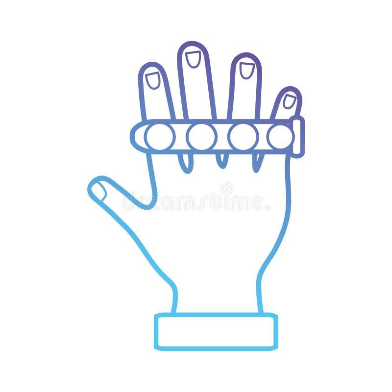 Linje handcyberspaceteknologi till den faktiska leken royaltyfri illustrationer