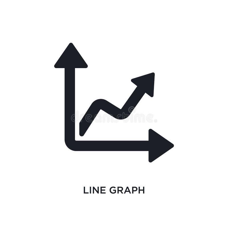 linje isolerad symbol för graf enkel beståndsdelillustration från framgångbegreppssymboler linje för logotecken för graf redigerb royaltyfri illustrationer