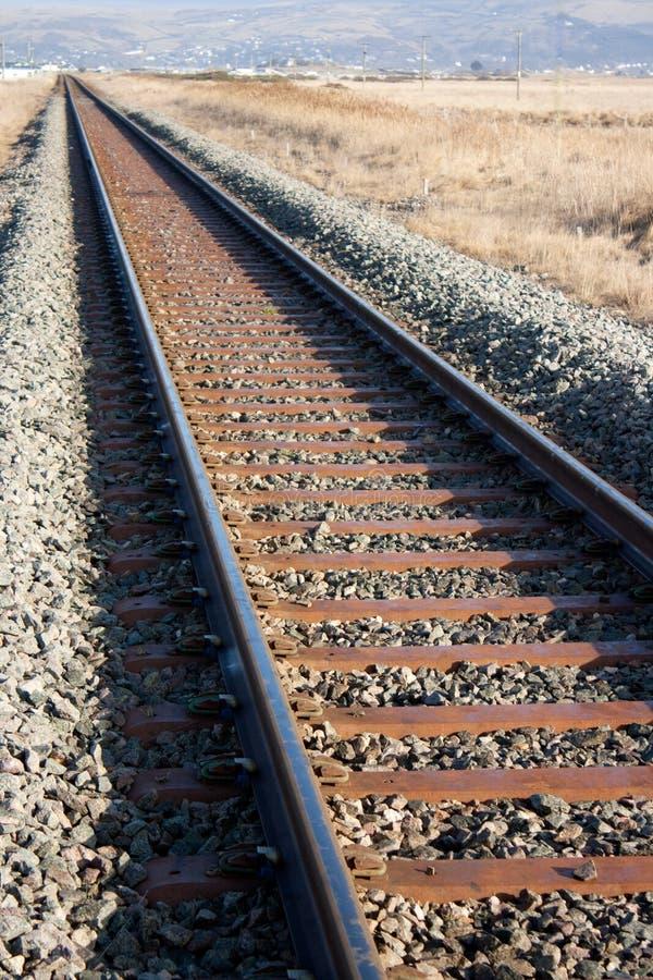 linje järnväg royaltyfri bild