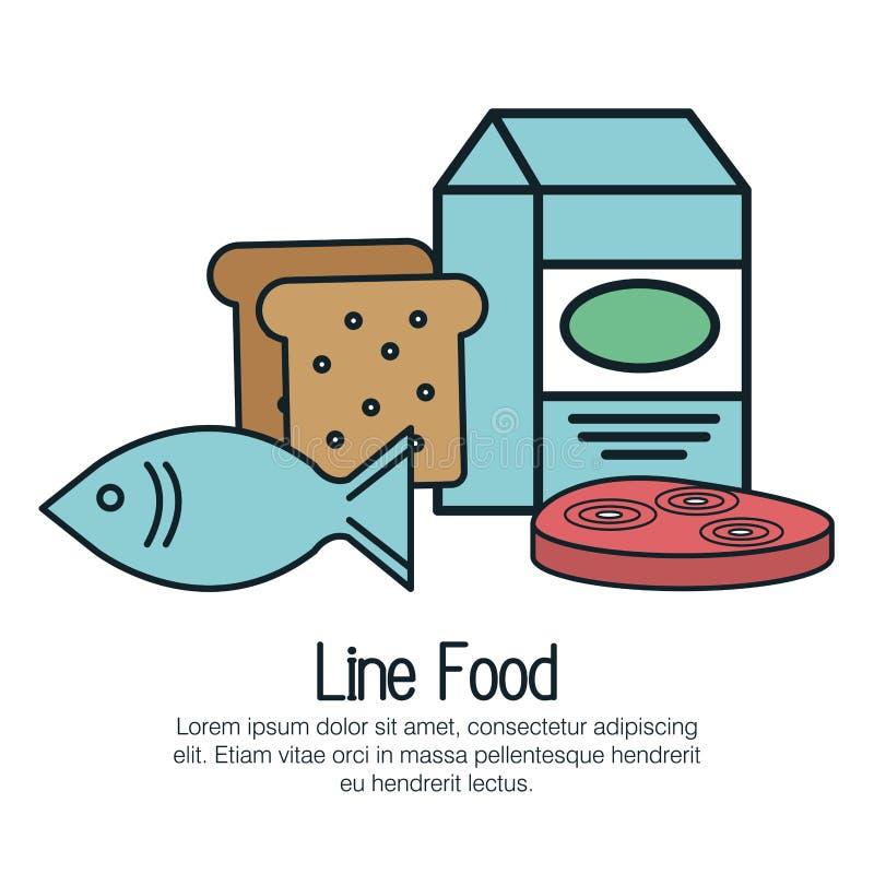 linje läcker mat isolerad symbol vektor illustrationer