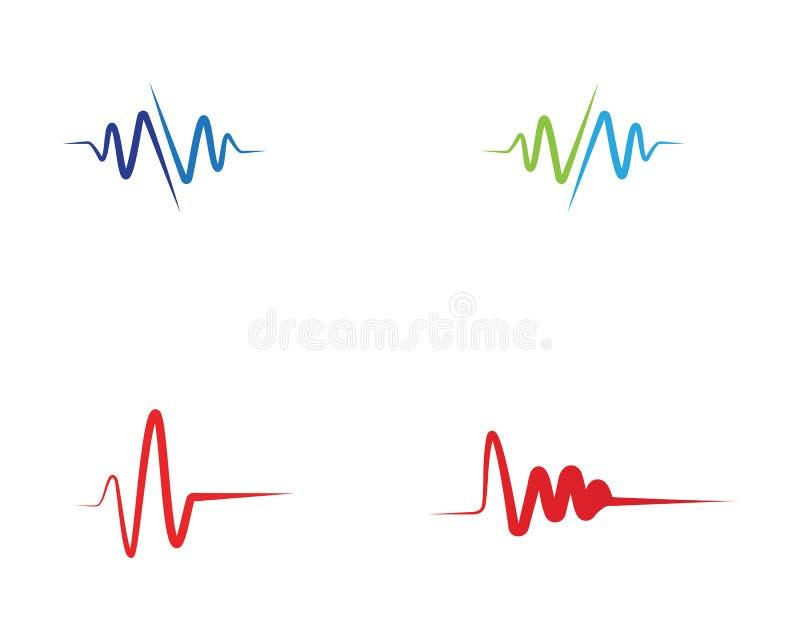 Linje logovektorer för sjukhus för hjärtatakt vektor illustrationer