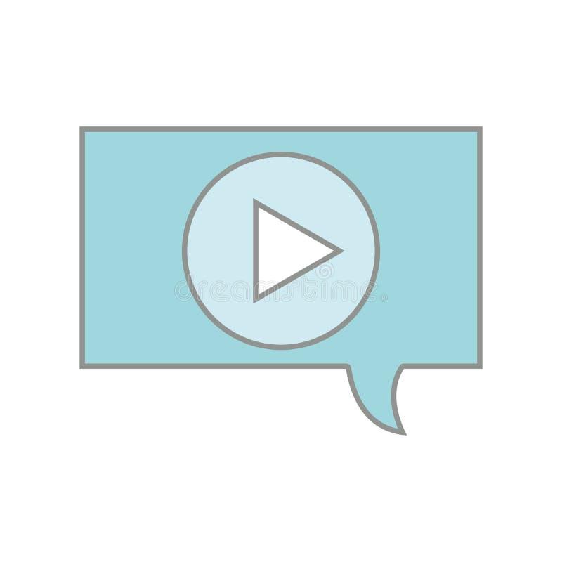 Linje meddelande för video för lek för färgpratstundbubbla royaltyfri illustrationer