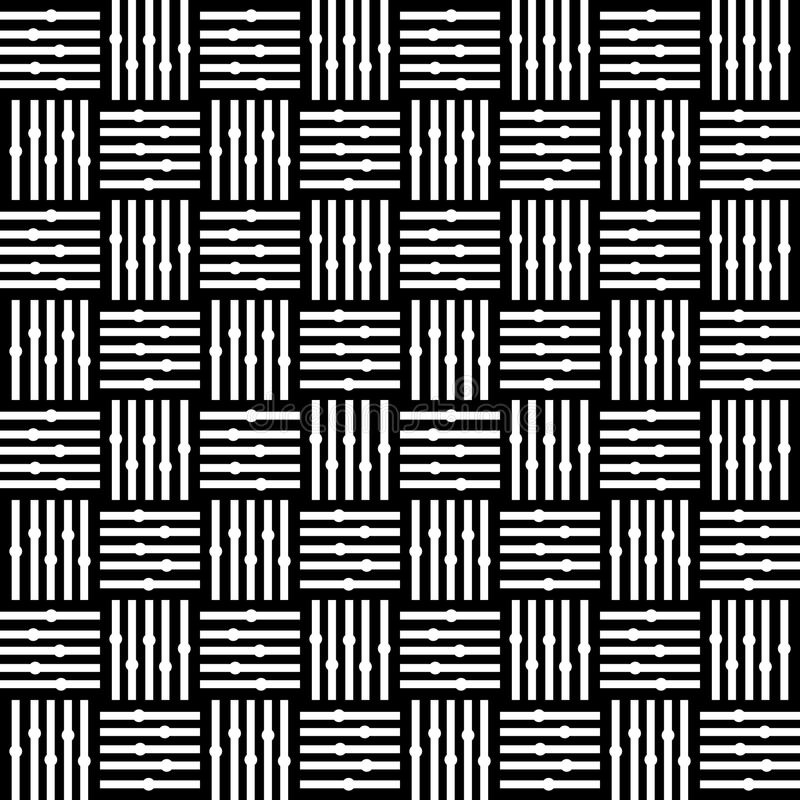 Linje modell för design för kontrollmotiv sömlös Grå färger som är krökta vektor illustrationer