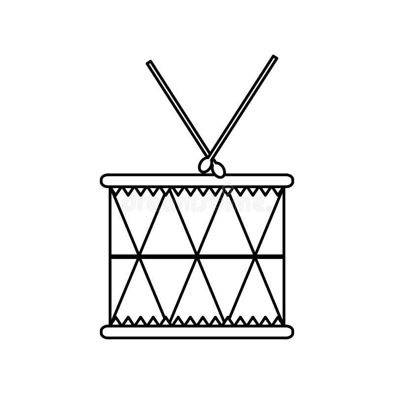 Linje musikalisk objektlek för wood vals stock illustrationer