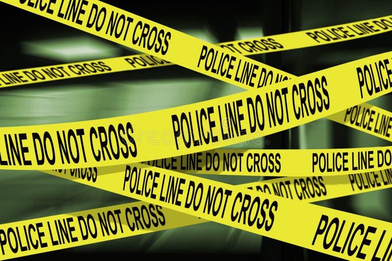 linje polis arkivbilder