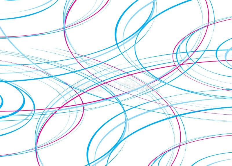 linje regnbågewave vektor illustrationer