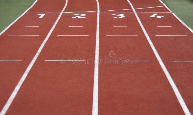 linje running start arkivfoto