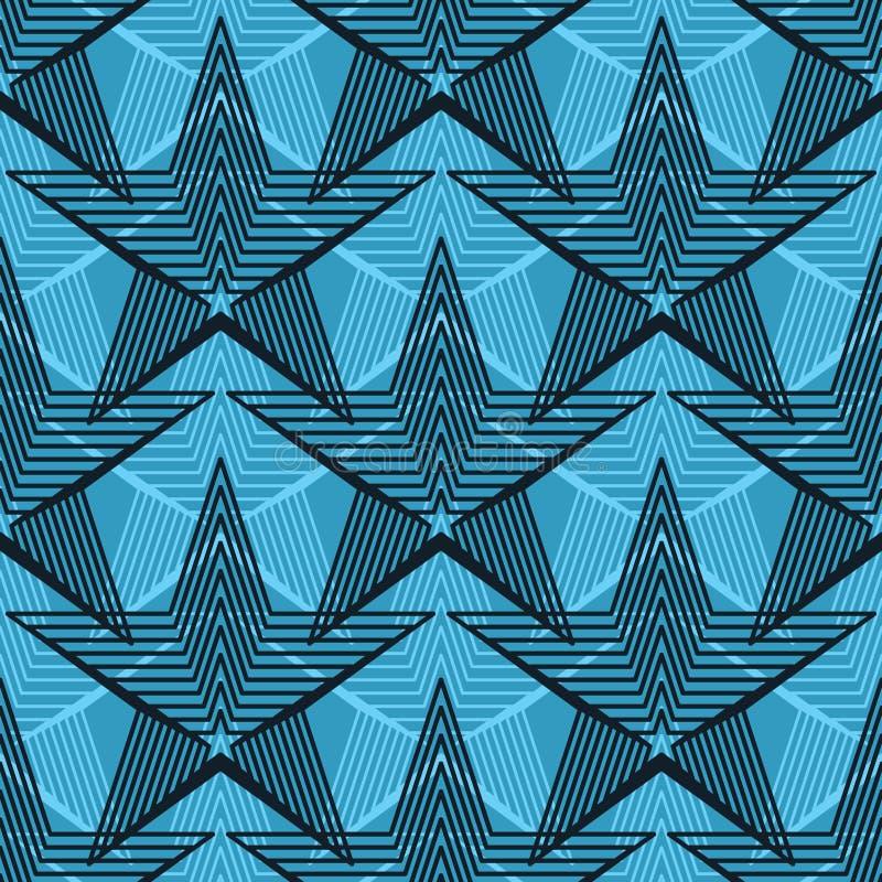 Linje sömlös modell för stjärnatappningsymmetri stock illustrationer